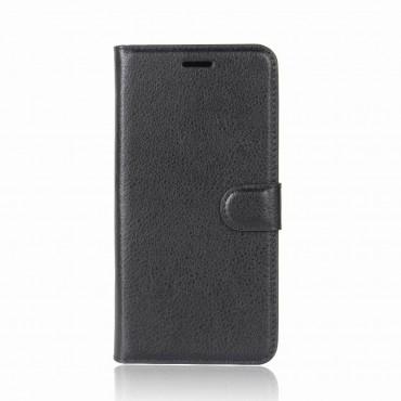 """Elegáns """"Litchi"""" tárca Huawei P20 készülékekhez – fekete"""
