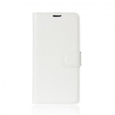 """Elegáns """"Litchi"""" műbőrtárca Huawei P20 készülékekhez – fehér"""