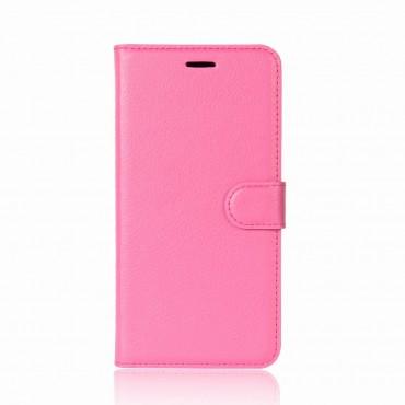 """Elegáns """"Litchi"""" műbőrtárca Huawei P20 készülékekhez – rózsaszín"""