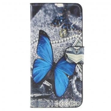 """Divatos """"Blue Butterfly"""" tárca Huawei P20 készülékekhez"""