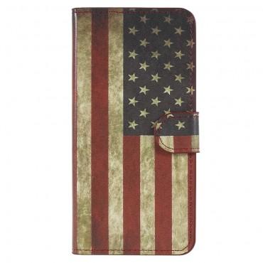 """Divatos """"Retro USA"""" tárca Huawei P20 készülékekhez"""