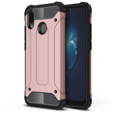 """Strapabíró """"Rock"""" védőtok Huawei P20 Lite készülékekhez – rózsaszín"""