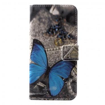 """Divatos """"Blue Butterfly"""" tárca Huawei P20 Lite készülékekhez"""