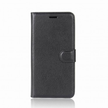 """Elegáns """"Litchi"""" tárca Huawei P20 Pro készülékekhez – fekete"""