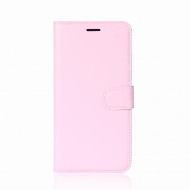 """Elegáns """"Litchi"""" műbőrtárca Huawei P20 Pro készülékekhez – rózsaszín"""