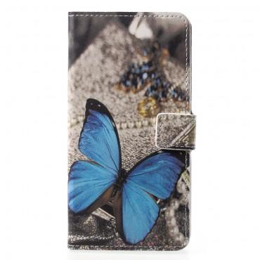 """Divatos """"Blue Butterfly"""" tárca Huawei P20 Pro készülékekhez"""