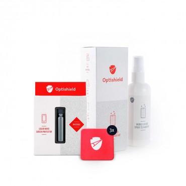 Minőséges Optishield Liquid Nano védőbevonat + Optishield 2in1 tisztító spray és mikroszálas törlőkendő + 3x Optishield Cleaning Patch