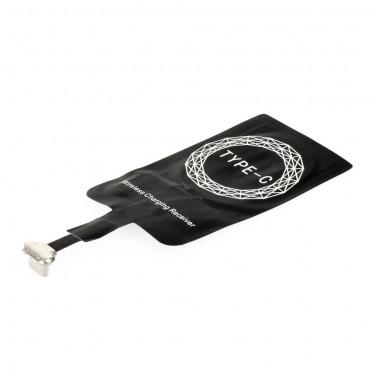 Univerzális vezeték nélküli QI vevő az USB-C csatlakozóval rendelkező eszközök számára