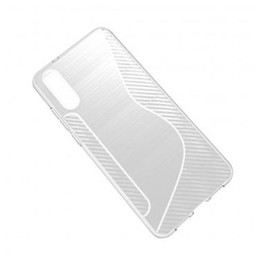 """TPU gél tok """"S-Line"""" Huawei P20 készülékekhez - átlátszó"""