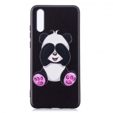 "TPU gél tok ""See No Panda"" Huawei P20 készülékekhez - fekete"