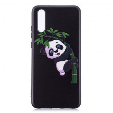 "TPU gél tok ""Climbing Panda"" Huawei P20 készülékekhez - fekete"