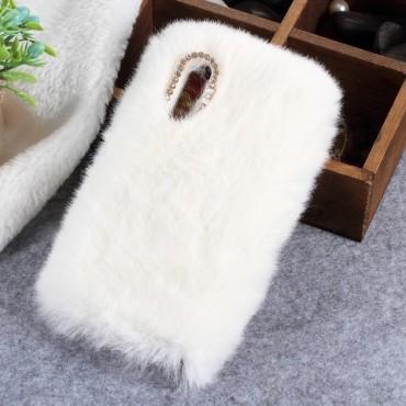 """Divatos tok """"Fluffy"""" Huawei P20 készülékekhez - fehér"""