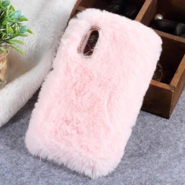 Fluffy divatos védőtok Huawei P20 készülékekhez – rózsaszín