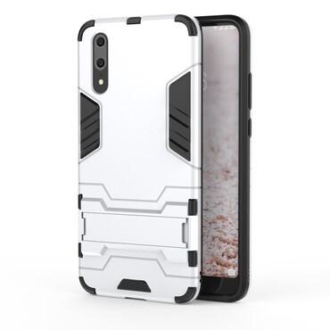 """Strapabíró """"Impact X"""" védőtok Huawei P20 készülékekhez – ezüstszínű"""