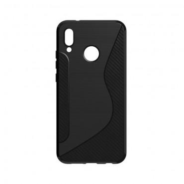 S-Line TPU géles védőtok Huawei P20 Lite készülékekhez – fekete