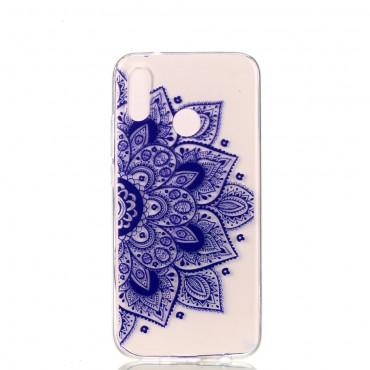 Purple Geo TPU géles védőtok Huawei P20 Lite készülékekhez