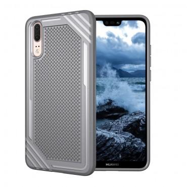 """TPU gél tok """"Texture"""" Huawei P20 készülékekhez - szürke"""