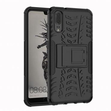 """Hibrid TPU géles """"Tough"""" védőtok Huawei P20 készülékekhez – fekete"""