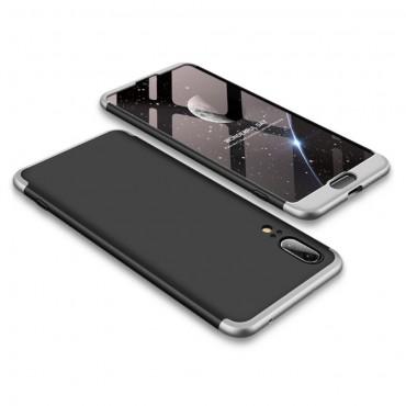 """Elegáns full body tárca """"Sleek"""" a Huawei P20 készülékhez – fekete-fehér"""