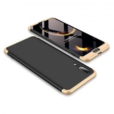 """Elegáns full body tárca """"Sleek"""" a Huawei P20 készülékhez – aranyszínű"""