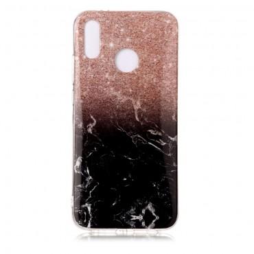 Marble divatos védőtok Huawei P20 Lite készülékekhez – fekete