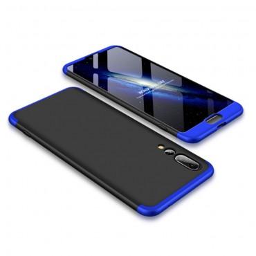 """Elegáns full body tárca """"Sleek"""" a Huawei P20 Pro készülékhez – fekete-kék"""