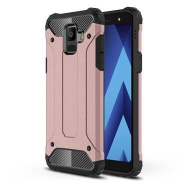 """Strapabíró """"Rock"""" védőtok Samsung Galaxy A6 2018 készülékekhez – rózsaszín"""