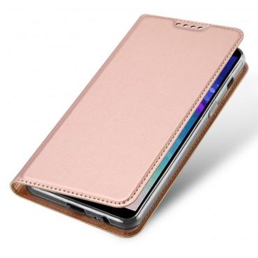 """Divatos """"Skin"""" műbőr tárca Samsung Galaxy A6 2018 készülékekhez – rózsaszín"""