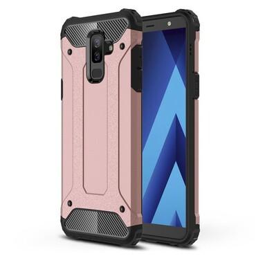 """Strapabíró """"Rock"""" védőtok Samsung Galaxy A6 Plus 2018 készülékekhez – rózsaszín"""