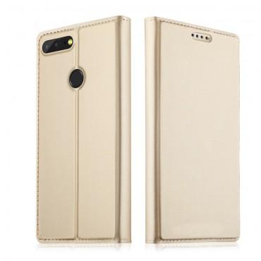 """Divatos """"Skin"""" műbőr tárca Huawei Honor 9 Lite készülékekhez – aranyszínű"""