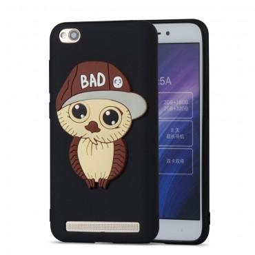 """TPU gél tok """"Bad Owl"""" Xiaomi Redmi 5A készülékekhez - fekete"""