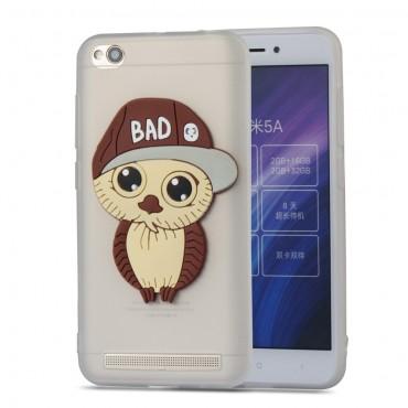"""TPU gél tok """"Bad Owl"""" Xiaomi Redmi 5A készülékekhez - fehér"""