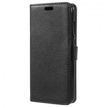 """Elegáns """"Litchi"""" tárca Huawei Honor 9 Lite készülékekhez – fekete"""