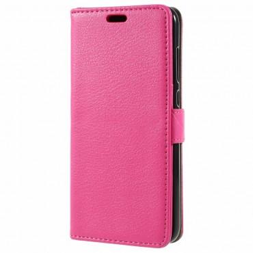 """Elegáns """"Litchi"""" tárca Huawei Honor 9 Lite készülékekhez – rózsaszín"""