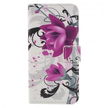 """Divatos """"Lotus Flower"""" tárca Huawei Honor 9 Lite készülékekhez"""