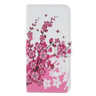 """Divatos """"Flower Bloom"""" tárca Huawei Honor 9 Lite készülékekhez"""