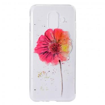 """Vékony TPU géles """"In Bloom"""" védőtok Samsung Galaxy A6 2018 készülékekhez"""