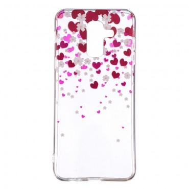 """Vékony TPU géles """"Hearts"""" védőtok Samsung Galaxy A6 Plus 2018 készülékekhez"""