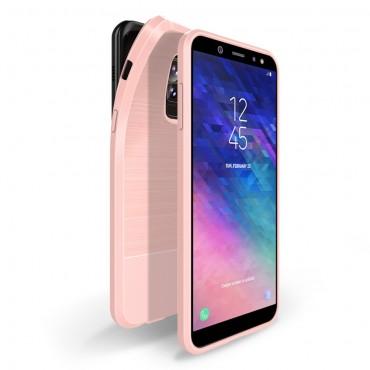 Mojo TPU géles védőtok Samsung Galaxy A6 Plus 2018 készülékekhez – rózsaszín