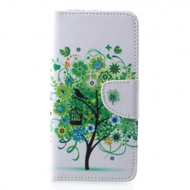 """Divatos """"Tree of Dreams"""" tárca Samsung Galaxy A6 Plus 2018 készülékekhez"""