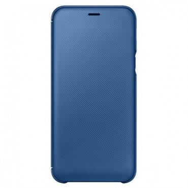 """Eredeti """"Wallet Cover"""" védőtok Samsung Galaxy A6 2018 - kék"""