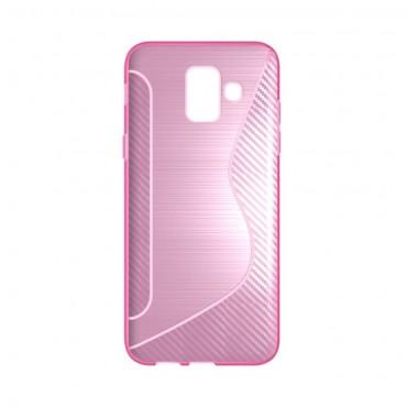 """TPU gél tok """"S-Line"""" Samsung Galaxy A6 2018 készülékekhez - rózsaszín"""