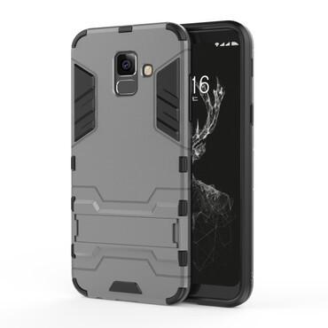 """Strapabíró """"Impact X"""" védőtok Samsung Galaxy A6 2018 készülékekhez – szürke"""