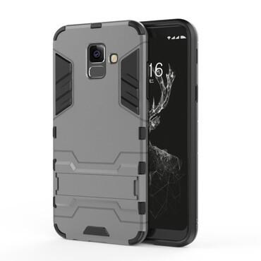 """Strapabíró """"Impact X"""" védőtok Samsung Galaxy A6 Plus 2018 készülékekhez – szürke"""