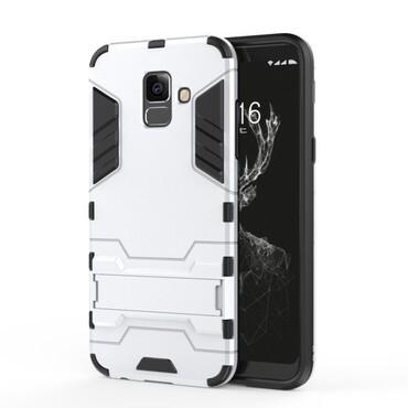 """Strapabíró """"Impact X"""" védőtok Samsung Galaxy A6 Plus 2018 készülékekhez – ezüstszínű"""