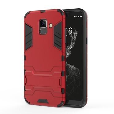 """Strapabíró """"Impact X"""" védőtok Samsung Galaxy A6 Plus 2018 készülékekhez – piros"""