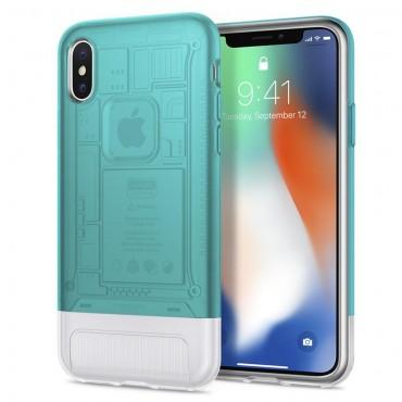 """Spigen """"Classic C1"""" védőtok iPhone X készülékhez – bondi blue"""