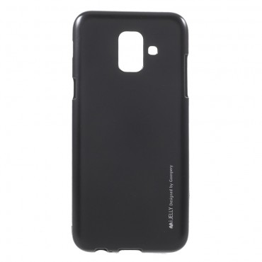 Goospery iJelly Case TPU géles védőtok Samsung Galaxy A6 2018 készülékekhez – fekete