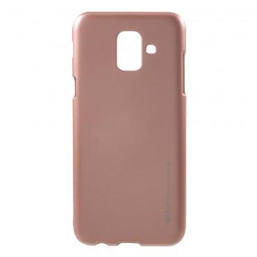 Goospery iJelly Case TPU géles védőtok Samsung Galaxy A6 2018 készülékekhez – rózsaszín