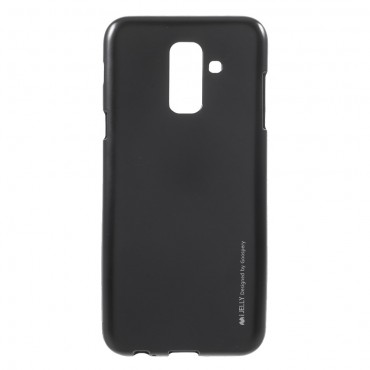 Goospery iJelly Case TPU géles védőtok Samsung Galaxy A6 Plus 2018 készülékekhez – fekete